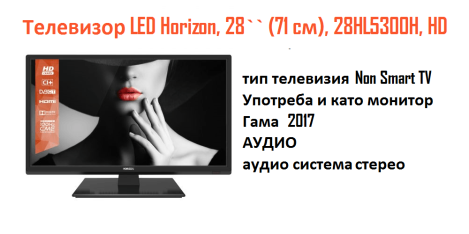 Телевизор LED Horizon, 28`` (71 cм), 28HL5300H, HD